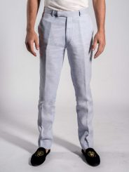 Linen Trousers in Ciel