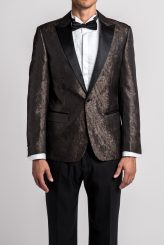 Marbled Jacquard Tuxedo Jacket