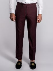 Wool Trousers in Burgundy