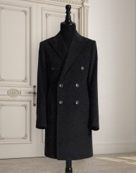 Double-Breasted Overcoat in Wool