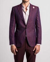 Beaujolais Jacquard Unlined Blazer