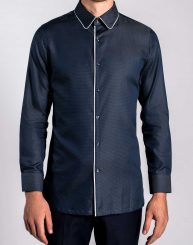 Piped Jacquard Shirt