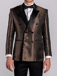 Metallic Bronze Jacquard Blazer