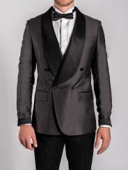 Double Breasted Shawl Lapel Smoking Jacket