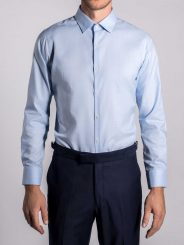 Prince of Wales Check Shirt in Powder Blue