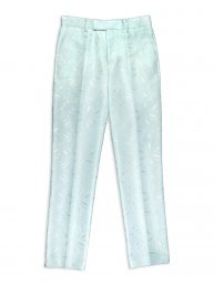 DEBONEIRE Floral Jacquard Trousers in Whispering Blue