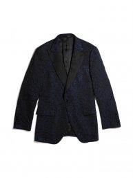 DEBONEIRE Leopard Jacquard Cocktail Jacket