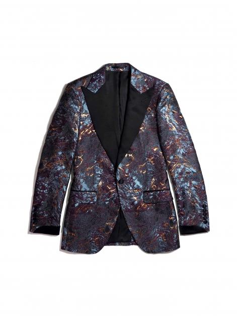 DEBONEIRE Molten Lava Jacquard Cocktail Jacket