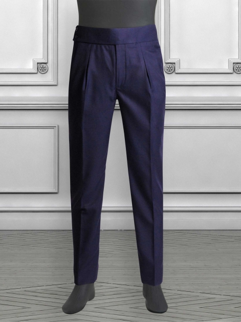 High-Waisted Trousers with Box Pleats