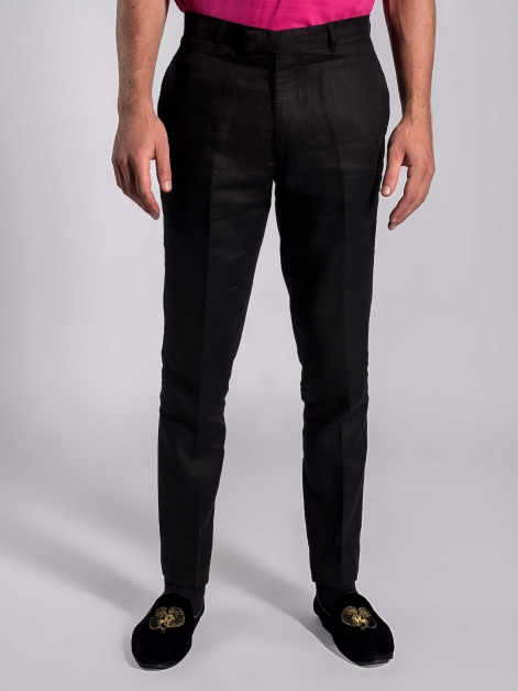Linen Trousers in Charcoal