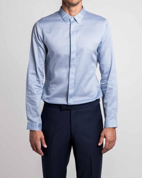 Printed Cotton Satin Shirt